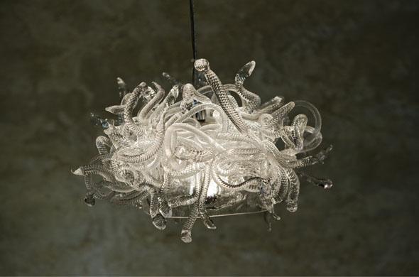 Le chat - lustre méduse, 2010 - photo marc domage
